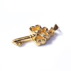 新西北金行 千足金3D钥匙吊坠  重量1.76g  黄金珠宝黄金吊坠 1.76g