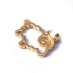 新西北金行   千足金3D镂空羊吊坠  重量1.63g   黄金珠宝黄金吊坠 1.63g