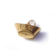 新西北金行  千足金元宝吊坠  重量3.75g   黄金珠宝黄金吊坠 3.75g