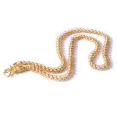 新西北金行  千足金泰链项链  重量87.10g   黄金珠宝黄金项链 87.10g