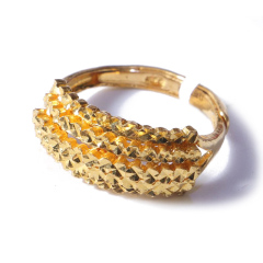 新西北金行  千足金仿铂面戒指  重量5.59g    黄金珠宝黄金戒指 5.59g
