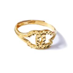 新西北金行  千足金香奈儿戒指  重量3.53g  黄金珠宝黄金戒指 3.53g