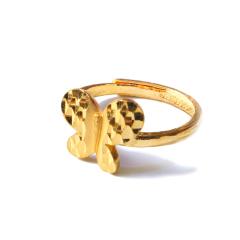 新西北金行  千足金蝴蝶戒指  重量4.93g   黄金珠宝黄金戒指 4.93g