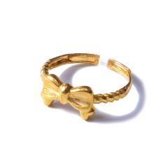 新西北金行  千足金蝴蝶结戒指  重量4.01g   黄金珠宝黄金戒指 4.01g