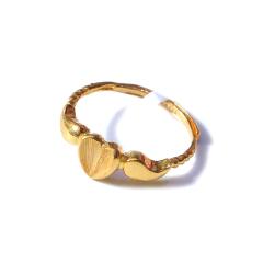 新西北金行  千足金拉丝桃心戒指  重量2.80g   黄金珠宝黄金戒指 2.80g