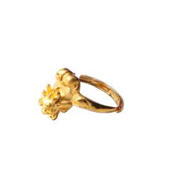 新西北金行  千足金貔貅戒指 重量4.60g   黄金珠宝黄金戒指 4.60g