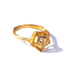 新西北金行  千足金镂空海星戒指  重量4.10g   黄金珠宝黄金戒指 4.10g