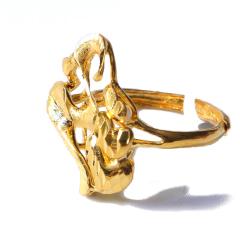 新西北金行  千足金经典扯花拉丝  重量5.95g    黄金珠宝黄金戒指 5.95g