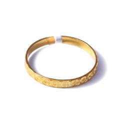 新西北金行  千足金扯花指环  重量1.79g    黄金珠宝黄金戒指 1.79g