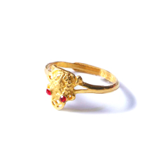 新西北金行  千足金金蟾戒指 重量3.23g  黄金戒指 3.23g