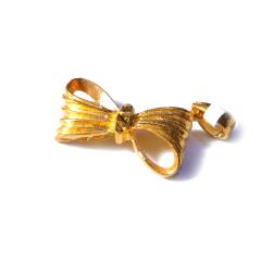 新西北金行  千足金蝴蝶结吊坠  重量2.64g   黄金珠宝黄金吊坠 2.64g