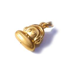 新西北金行  千足金3D大嘴猴吊坠  重量2.66g  黄金珠宝黄金吊坠 2.66g