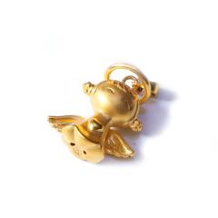 新西北金行  千足金3D大天使吊坠  重量2.78g  黄金珠宝黄金吊坠 2.78g