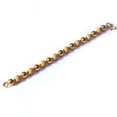 新西北金行 千足金雙混手鐲  重量40.82g   黃金珠寶黃金手鏈 40.82g