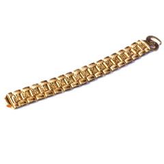 新西北金行  千足金坦克手鏈  重量94.81g   黃金珠寶黃金手鏈 94.81g