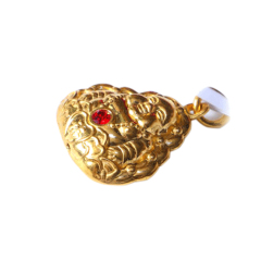 新西北金行  千足金红点佛(空心)吊坠  重量3.72g   黄金珠宝黄金吊坠 3.72g
