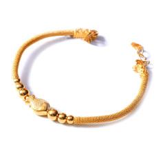 新西北金行   千足金單魚鐲鏈手鐲   重量16.97g  黃金珠寶黃金手鐲 16.97g