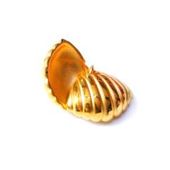 新西北金行   千足金3D贝壳吊坠  重量3.24g  黄金珠宝黄金吊坠 3.24g