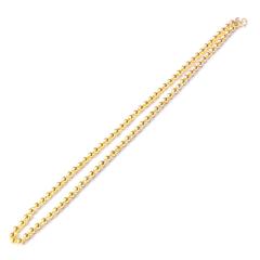 新西北金行 佛珠项链  重量18.41g  黄金珠宝黄金项链 18.41g