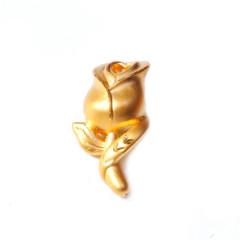 新西北金行  千足金3D花吊坠  重量2.11g  黄金珠宝黄金吊坠 2.11g