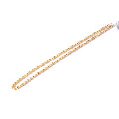 新西北金行  磨砂光珠项链  重量16.90g   黄金珠宝黄金项链 16.90g