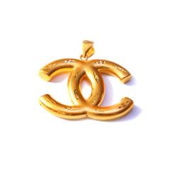 新西北金行  千足金3D香奈儿吊坠  重量6.53g  黄金珠宝黄金吊坠 6.53g