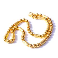 新西北金行  千足金转运佛珠男士项链  重量94.46g   黄金珠宝黄金项链 94.46g