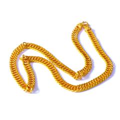 新西北金行  千足金马鞭男士项链  重量102.23g   黄金珠宝黄金项链 102.23g