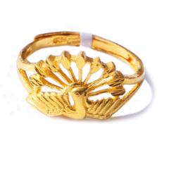 新西北金行  千足金孔雀戒指  重量4.17g    黄金珠宝黄金戒指 4.17g