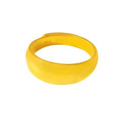 新西北金行  千足金窄面光戒指  重量8.42g    黄金珠宝黄金戒指 8.42g
