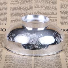 胜通祥   千足银年年有余碗   口径12.6  重量140克   白银