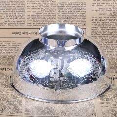 胜通祥   千足银双鱼福碗   口径16公分  重量260克   白银