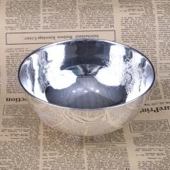 胜通祥   千足银花开富贵碗   口径16公分  重量260克   白银
