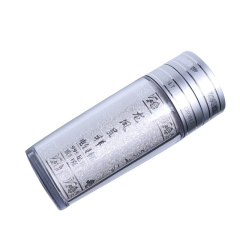 宝丰银楼  纯银雪花白中杯  高17cm  直径6.5cm   银