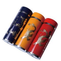 寶豐銀樓  純銀多彩直杯一個   紅黃藍  高18.5cm  直徑6.5cm  銀