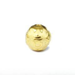 郑记金行   黄金吊坠   3D硬金 六字圆球 2.76g