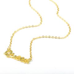 郑记金行  黄金珠宝 明星同款  千足金  字母链 6.95g