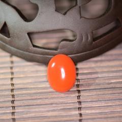 涼山美姑南紅瑪瑙純天然手工打磨【櫻桃紅精美戒面9?!空穼嵟?,僅此一款,市場價1100(RMB)