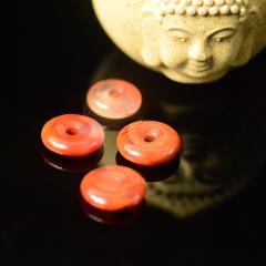 純天然涼山美姑南紅瑪瑙【平安扣】,寓意平安吉祥,幸福美滿,色澤紅潤透徹,質地細膩如玉