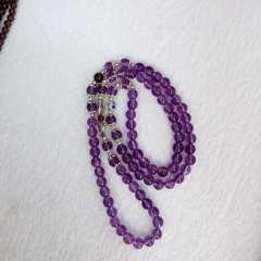 玉缘阁  紫晶多串手串,配藏银,配饰多款可来图配样