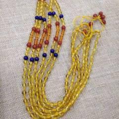 玉博源  純天然琥珀鏈,搭配青金石,南紅,超值特價
