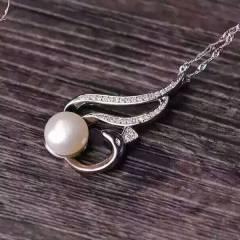 玉博源  凤鸟回眸天然淡水珍珠吊坠  S925银镶嵌天然淡水珍珠,辅石水钻,