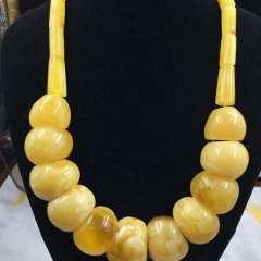 纯天然波罗的海鸡油黄蜜蜡挂件,俄罗斯回流随形项链,克重112.95克,克价160元