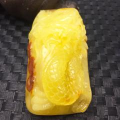 海凝轩 优质天然蜜蜡鸡油黄龙牌55g