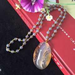 精品玛瑙毛衣链—节节高升 生活幸福 工作顺利