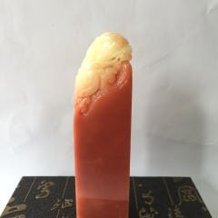 壽山石  魚化龍