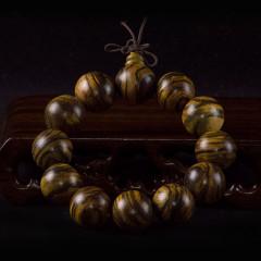 印尼花奇楠手串108佛珠男女士手鏈虎皮紋沉香佛珠手鏈念珠情侶款