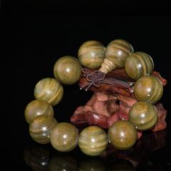 天然正宗绿檀手串2.0老料男女士佛珠手链108颗顺纹多层多圈手链 男女 1.8