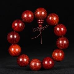 老料赞比亚血檀(非洲小叶紫檀)18/20/2.0佛珠手串手链 顺纹 男女 1.8
