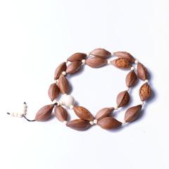 卓麟玉饰 时尚饰品 手串 橄榄核 老油料手工雕刻十八罗汉手串
